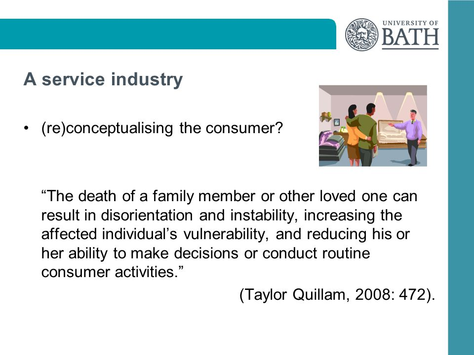 A service industry (re)conceptualising the consumer.