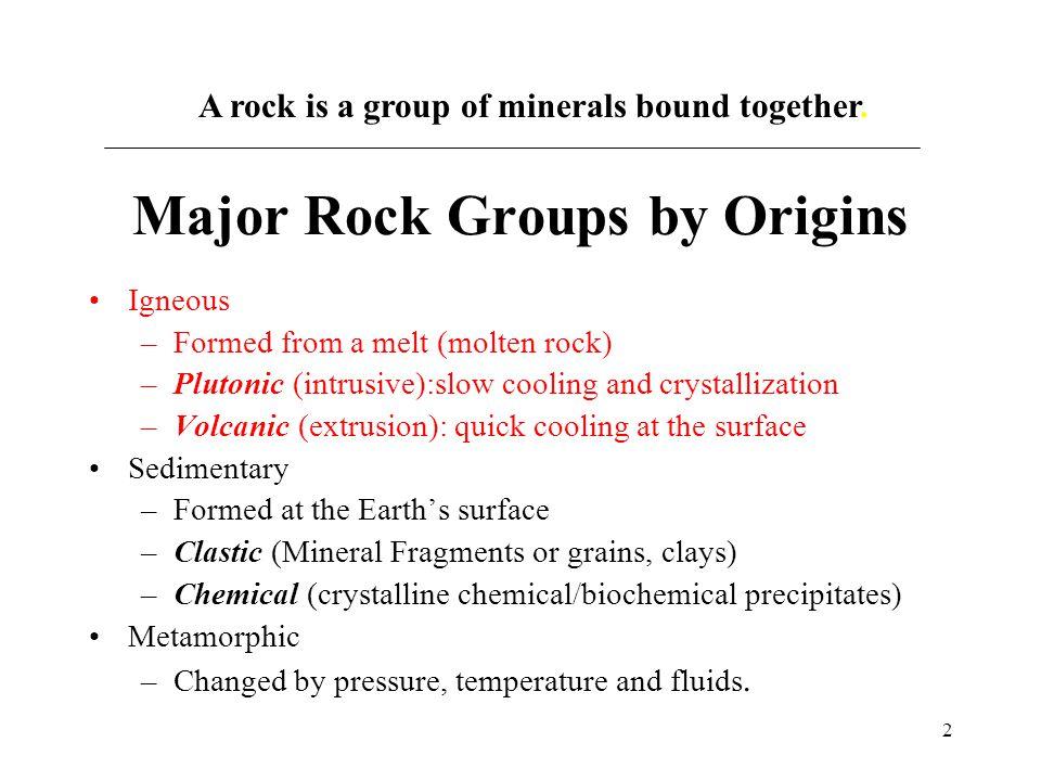 13 MAGMA Volcanic IGNEOUS Plutonic Uplift Crystallization Weathering
