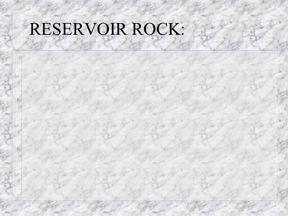 RESERVOIR ROCK: