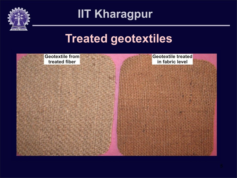 5 Treated geotextiles