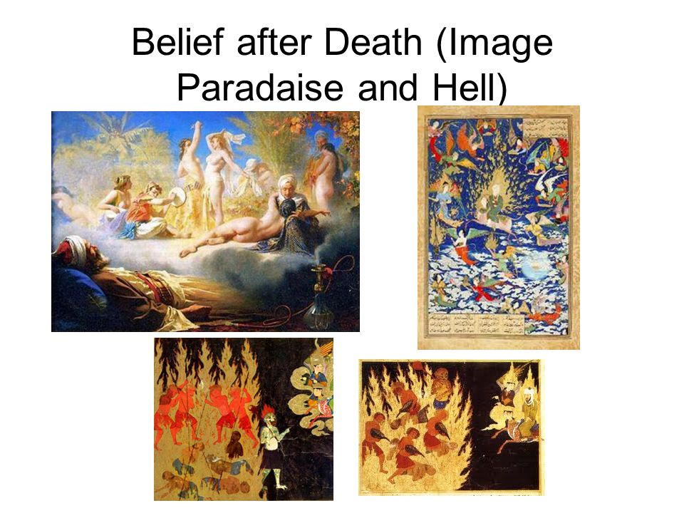 Belief after Death (Image Paradaise and Hell)
