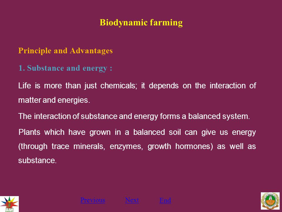 Biodynamic farming Principle and Advantages 1.