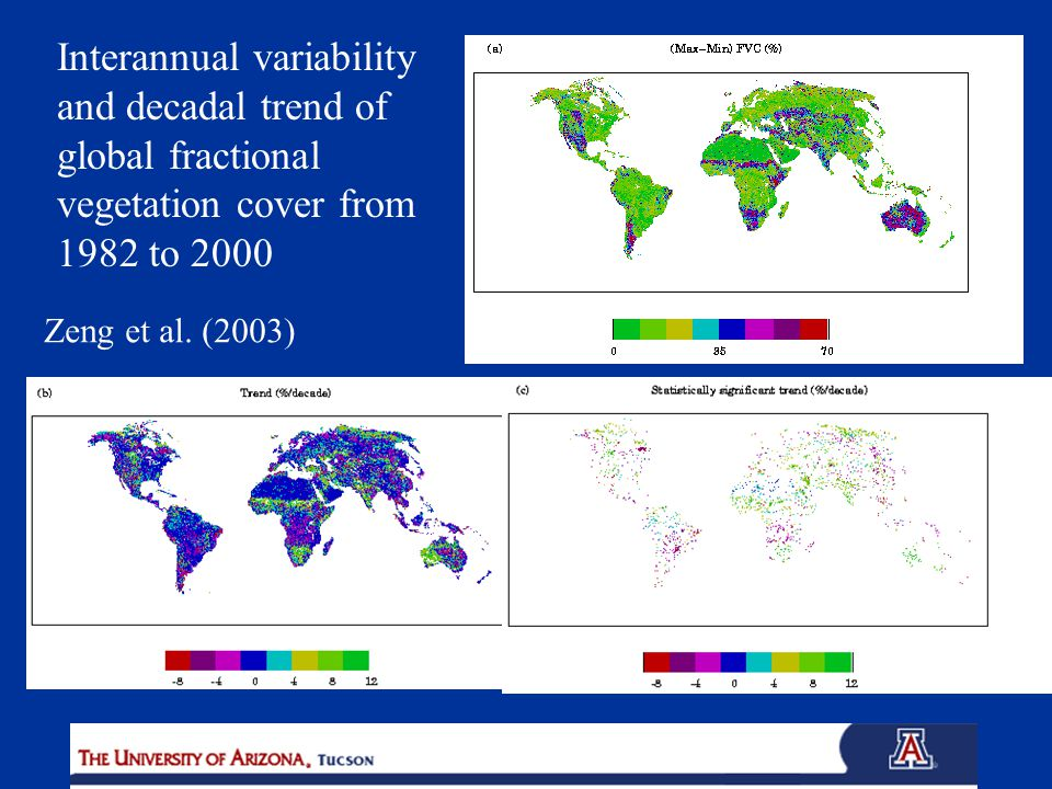 Interannual variability and decadal trend of global fractional vegetation cover from 1982 to 2000 Zeng et al.