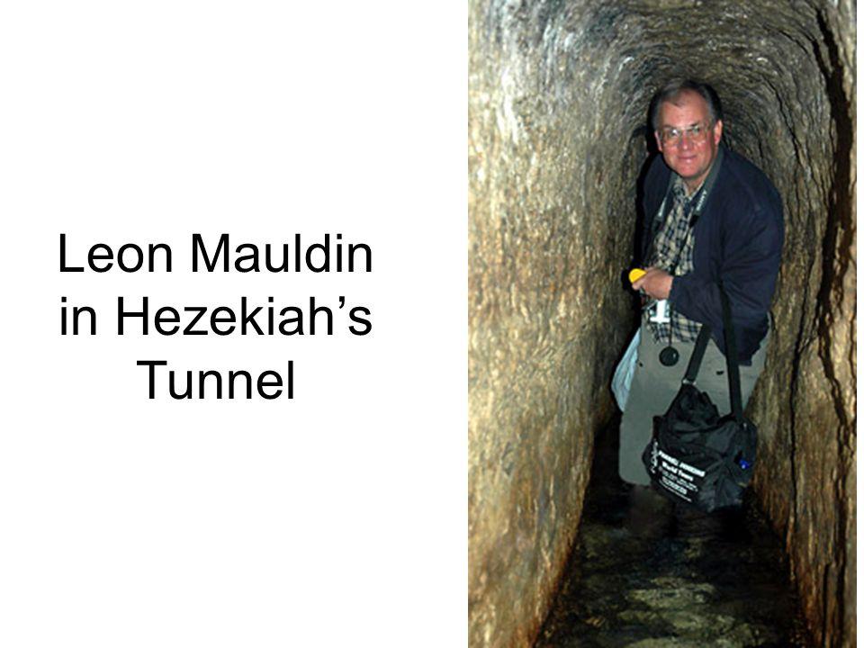 Leon Mauldin in Hezekiah's Tunnel