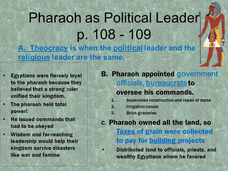 Pharaoh as Religious Leader p.