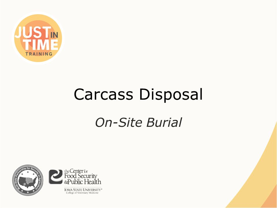 Carcass Disposal On-Site Burial