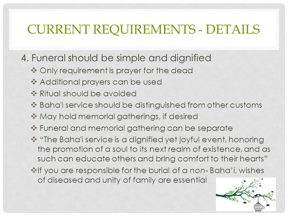 CURRENT REQUIREMENTS - DETAILS 4.