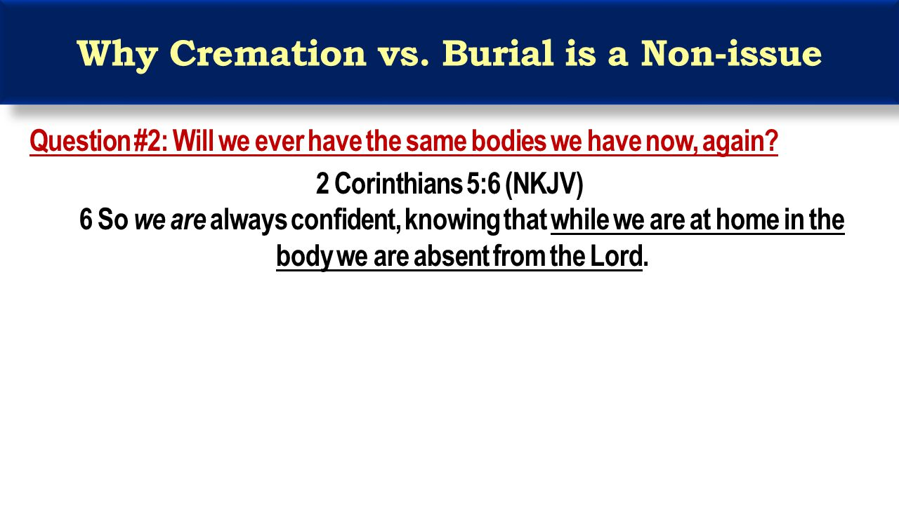 Why Cremation vs.