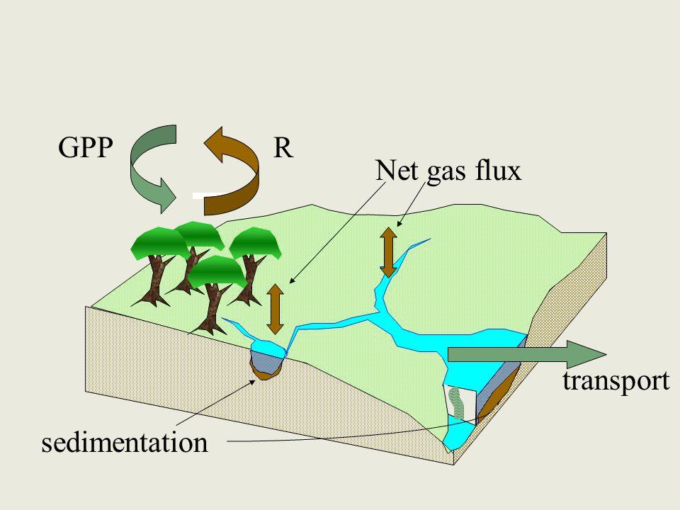 GPPR sedimentation Net gas flux transport