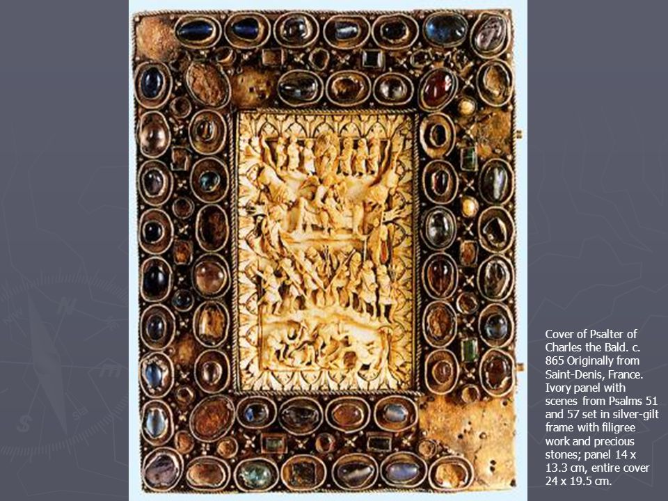Cover of Psalter of Charles the Bald. c. 865 Originally from Saint-Denis, France.