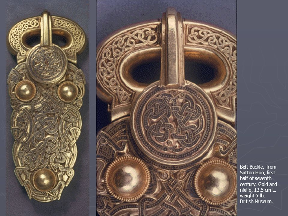 Belt Buckle, from Sutton Hoo, first half of seventh century.