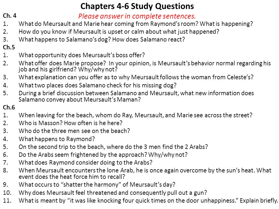 Part II: Chapters 1-3 Study Questions Please answer in complete sentences.