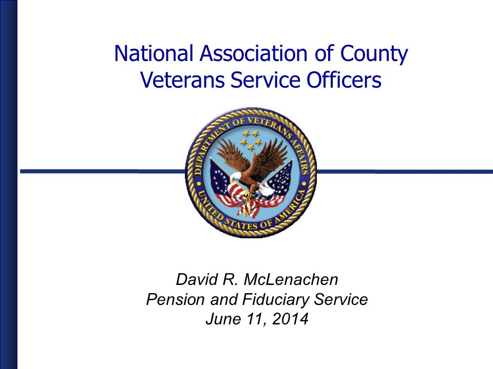 National Association of County Veterans Service Officers David R.