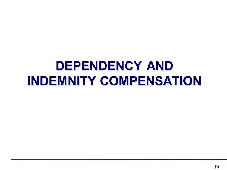 1818 DEPENDENCY AND INDEMNITY COMPENSATION