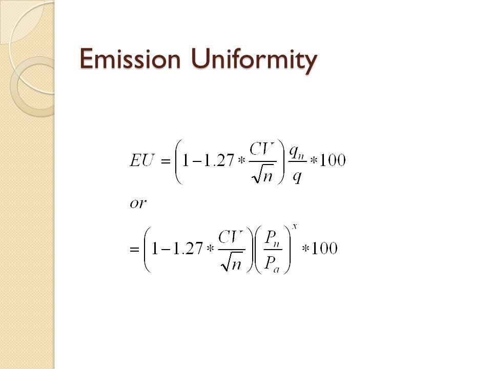 Emission Uniformity