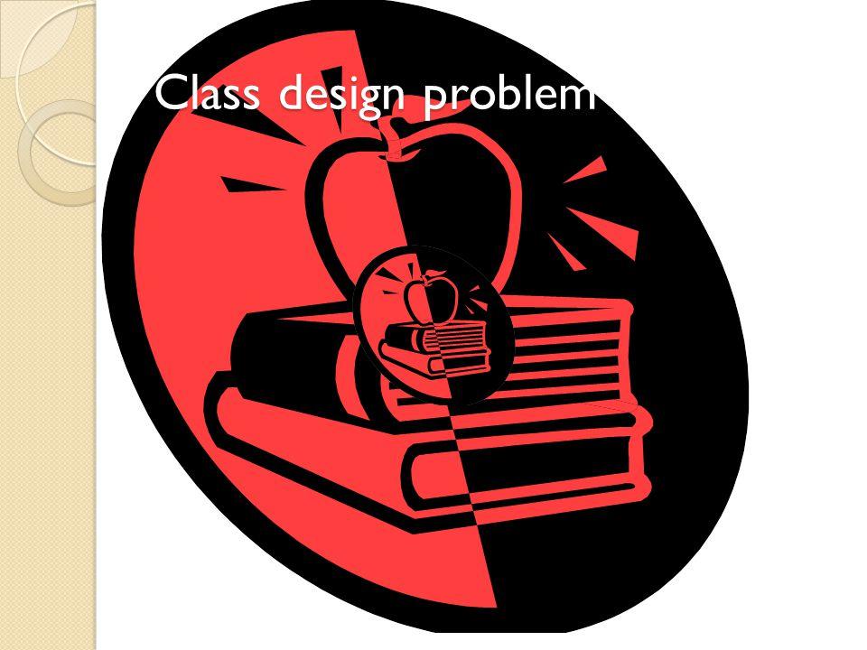 Class design problem