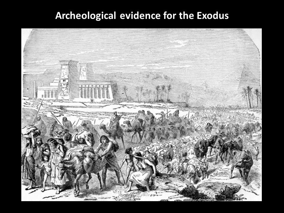 Archeological evidence for the Exodus