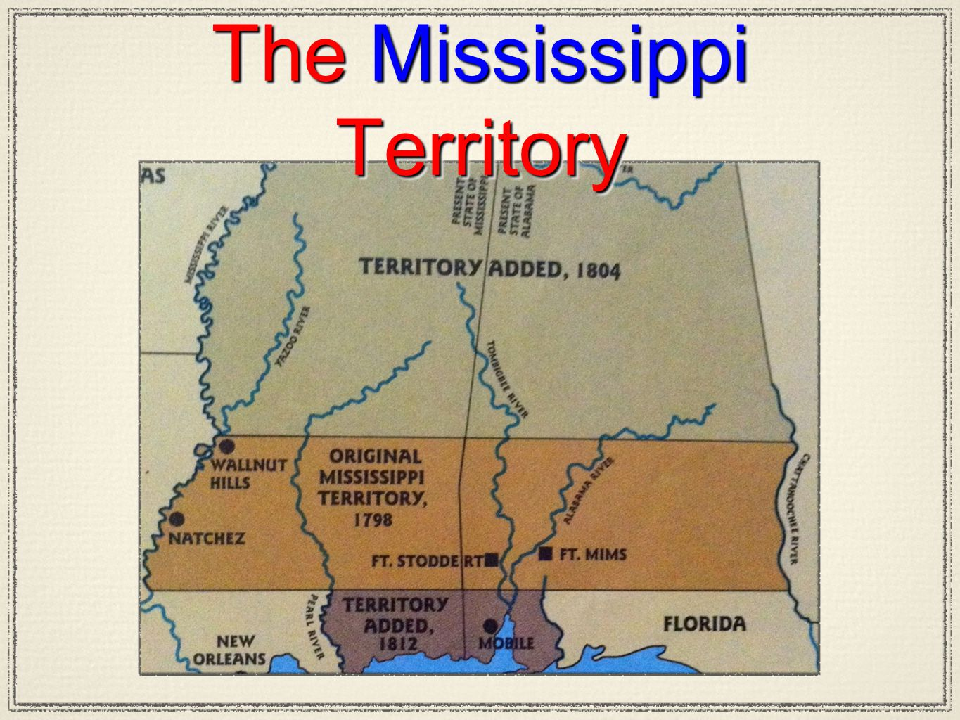 The Mississippi Territory