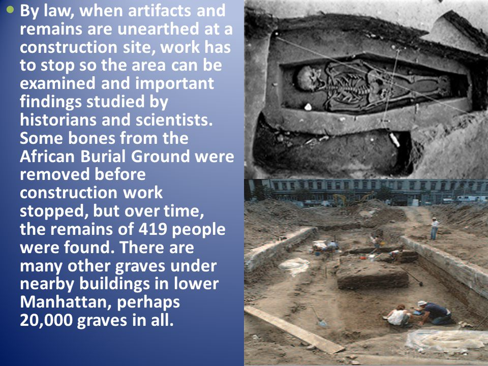 The bones were only discovered in 1991 because the building under construction was a skyscraper; the digging for the foundation had to go very deep into the earth.