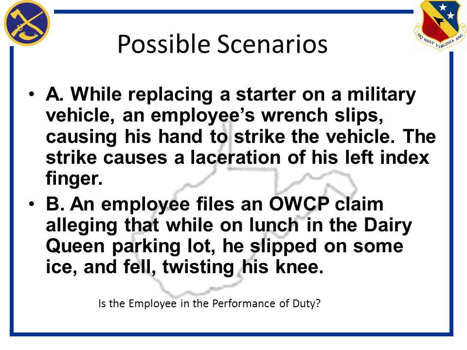 Possible Scenarios A.