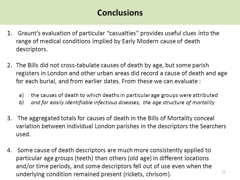Conclusions 11 1.