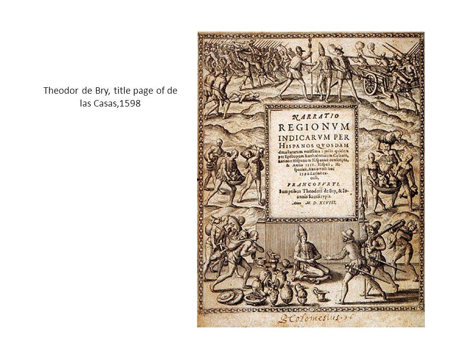 Theodor de Bry, title page of de las Casas,1598