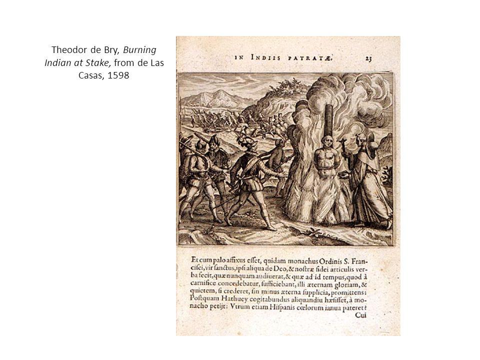 Theodor de Bry, Burning Indian at Stake, from de Las Casas, 1598