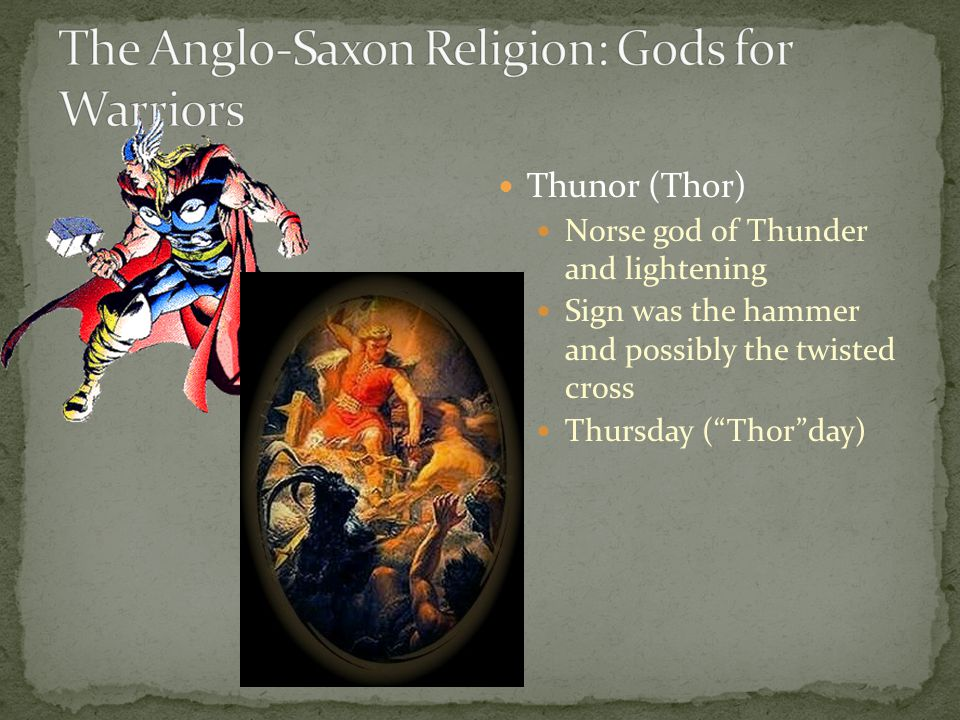 "Thunor (Thor) Norse god of Thunder and lightening Sign was the hammer and possibly the twisted cross Thursday (""Thor""day)"
