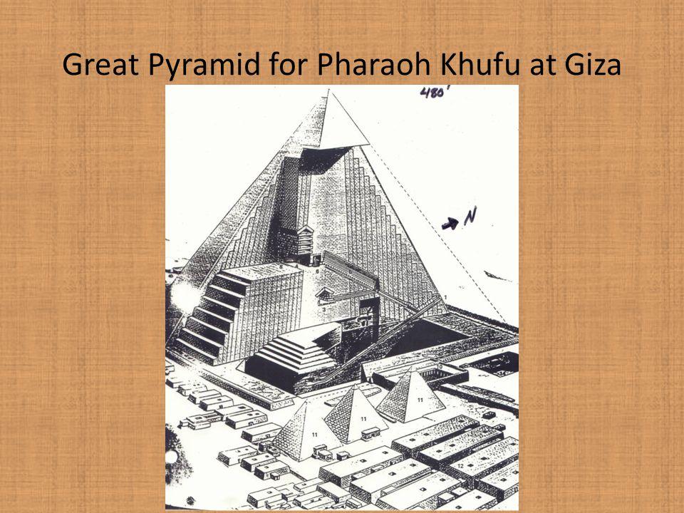 Great Pyramid for Pharaoh Khufu at Giza