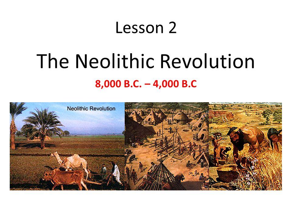 Lesson 2 The Neolithic Revolution 8,000 B.C. – 4,000 B.C