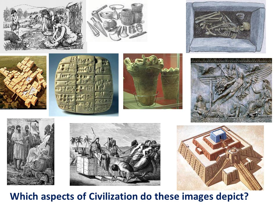 Which aspects of Civilization do these images depict?
