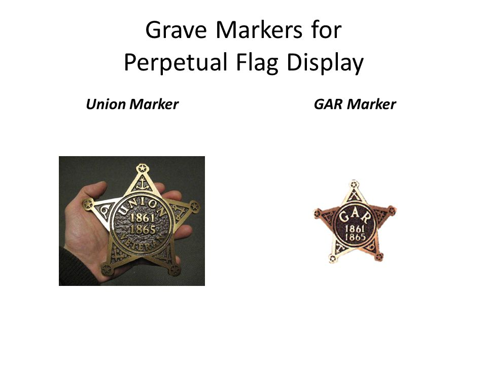 Grave Markers for Perpetual Flag Display Union MarkerGAR Marker