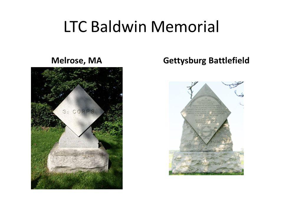 LTC Baldwin Memorial Melrose, MAGettysburg Battlefield
