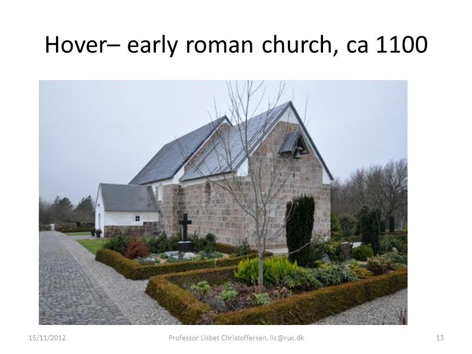 Hover– early roman church, ca 1100 15/11/2012Professor Lisbet Christoffersen, lic@ruc.dk13