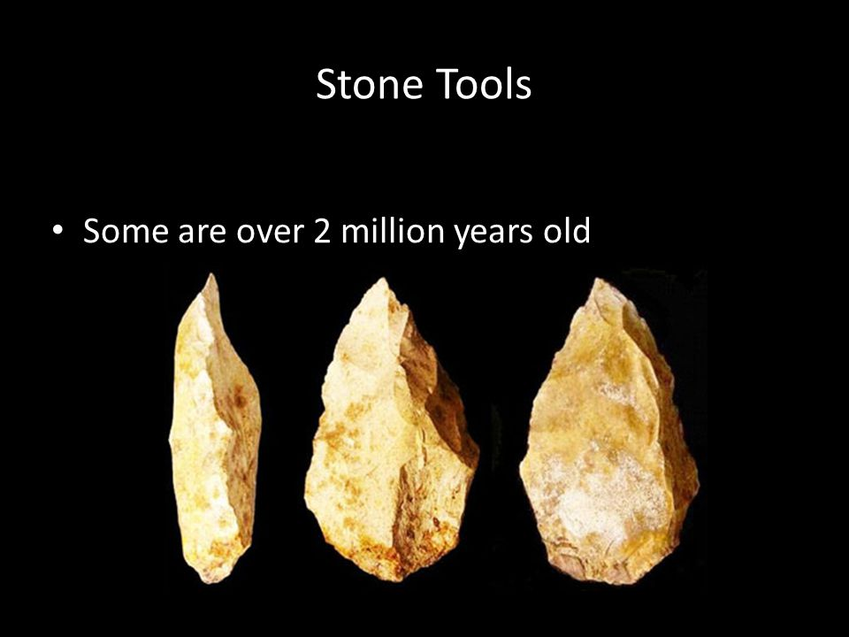 Stone Tools Some are over 2 million years old