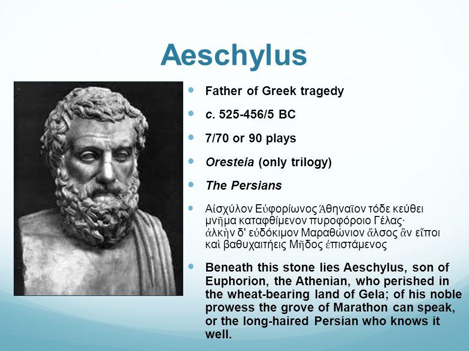Aeschylus Father of Greek tragedy c.