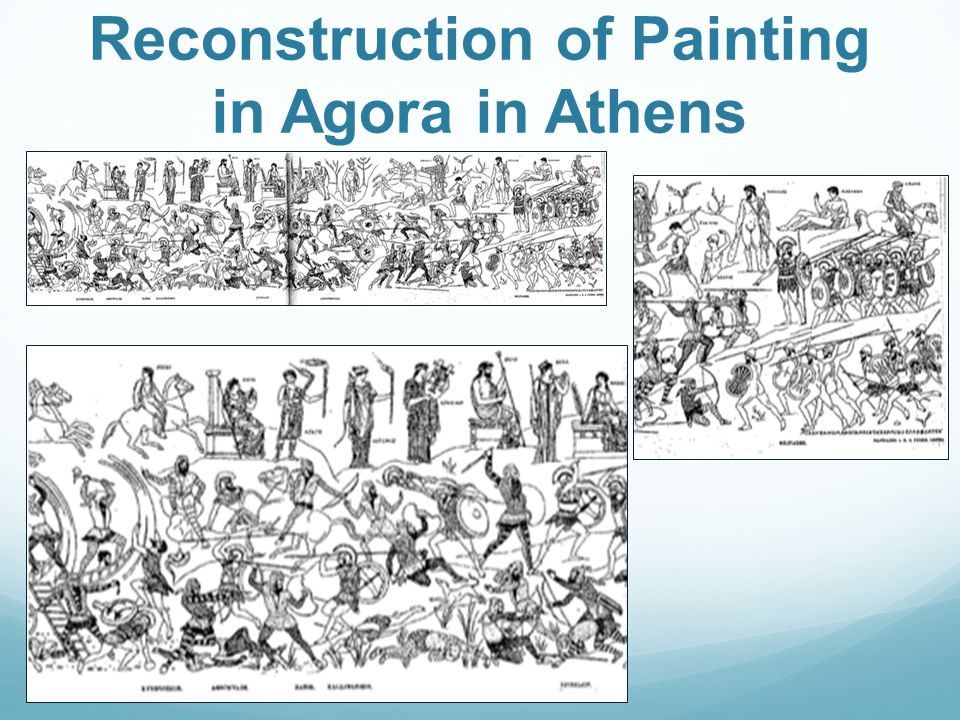 Reconstruction of Painting in Agora in Athens