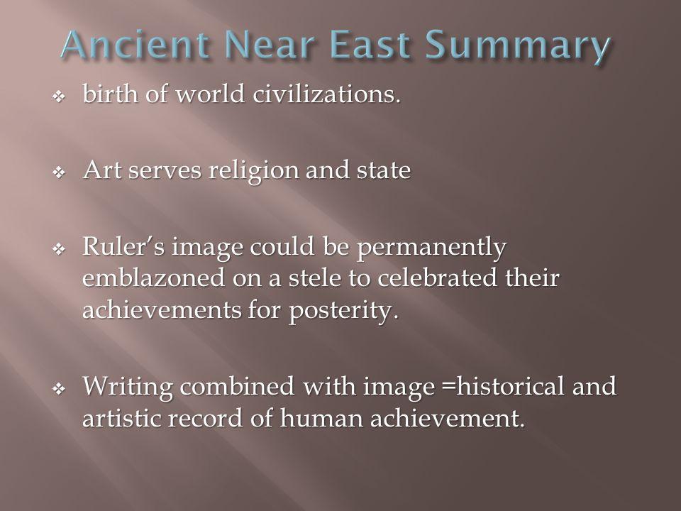  birth of world civilizations.