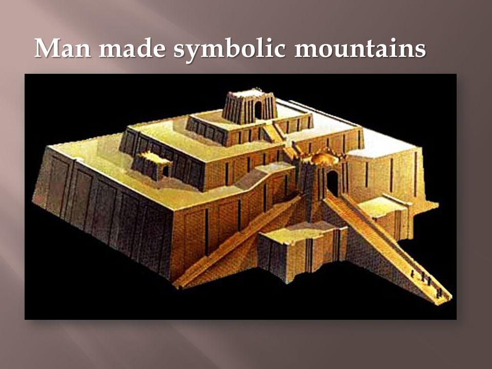 Man made symbolic mountains