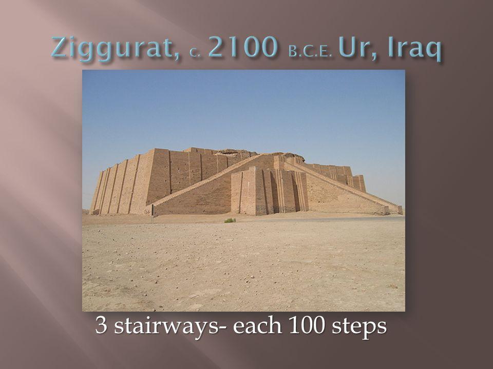 3 stairways- each 100 steps