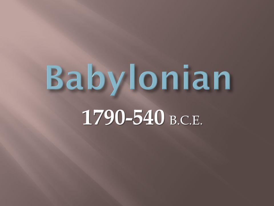 1790-540 B.C.E.