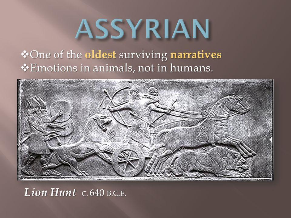 Lion Hunt C. 640 B.C.E.