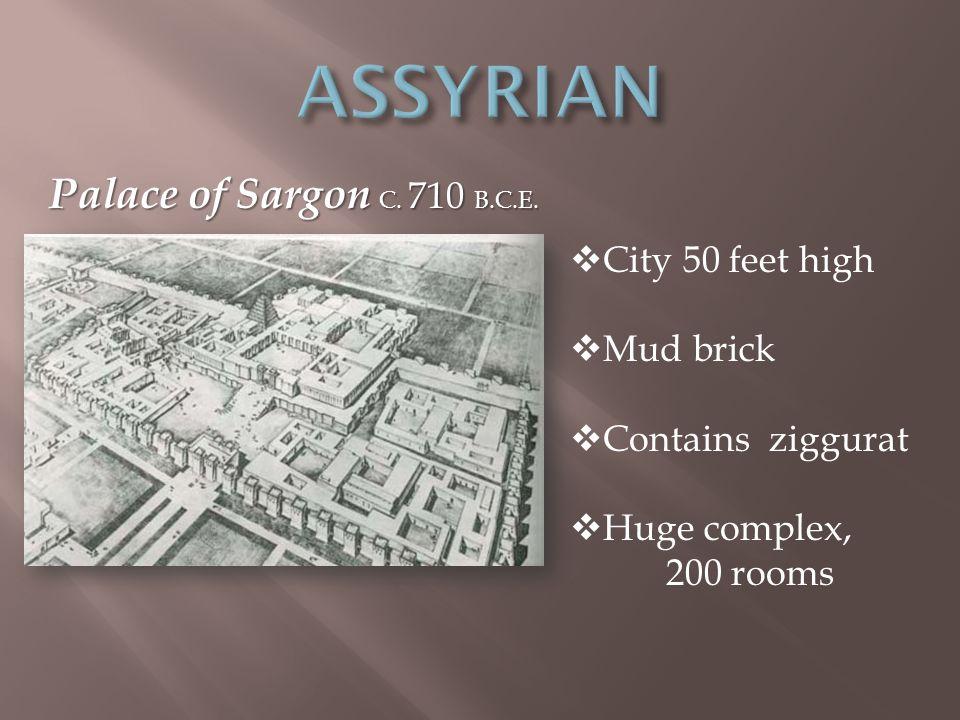 Palace of Sargon C. 710 B.C.E.