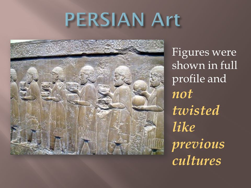 Figures were shown in full profile and not twisted like previous cultures