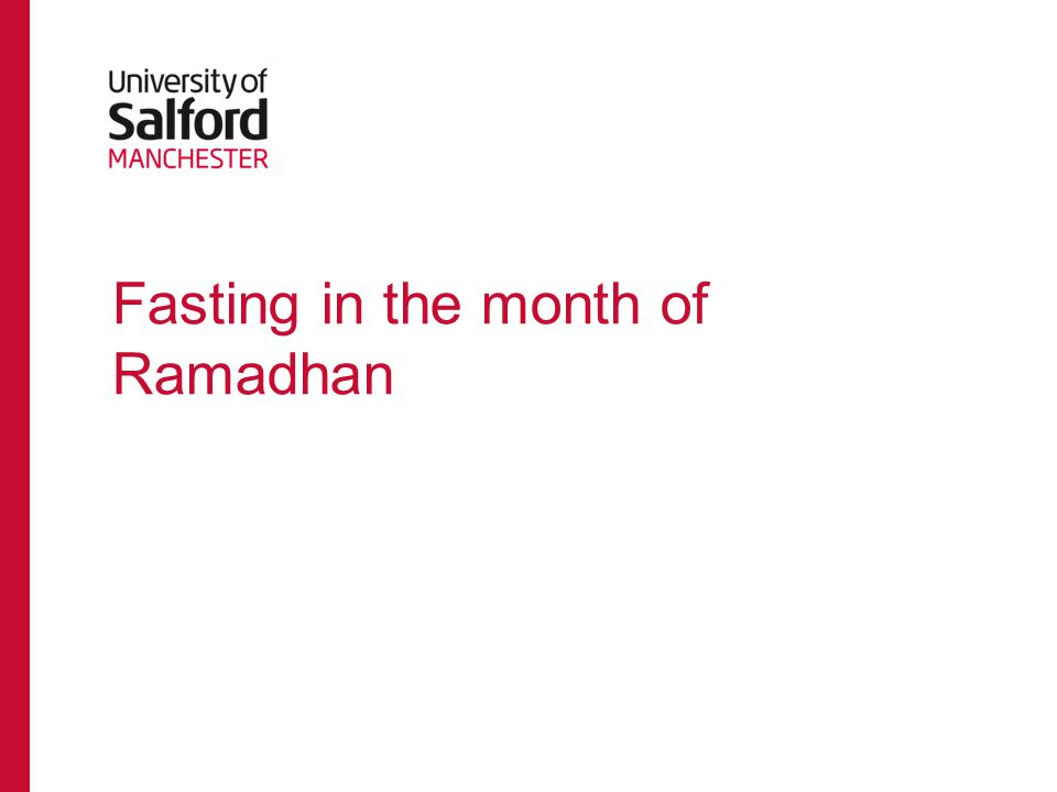Fasting in the month of Ramadhan