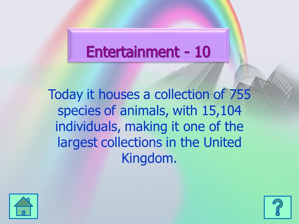 Today it houses a collection of 755 species of animals, with 15,104 individuals, making it one of the largest collections in the United Kingdom.