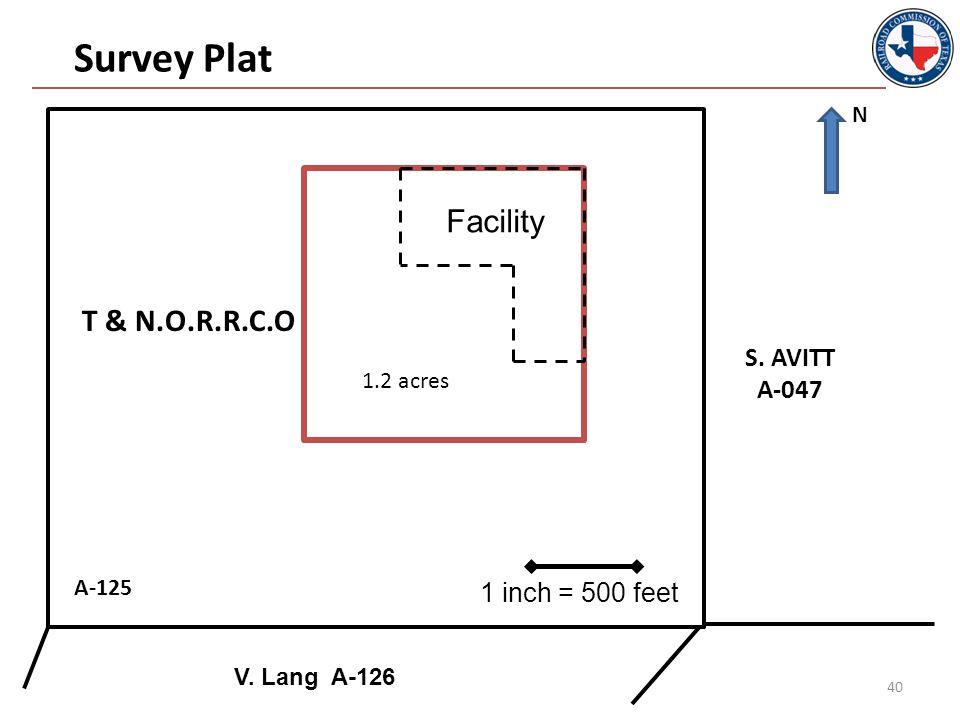 40 Facility A-125 Survey Plat S. AVITT A-047 V.
