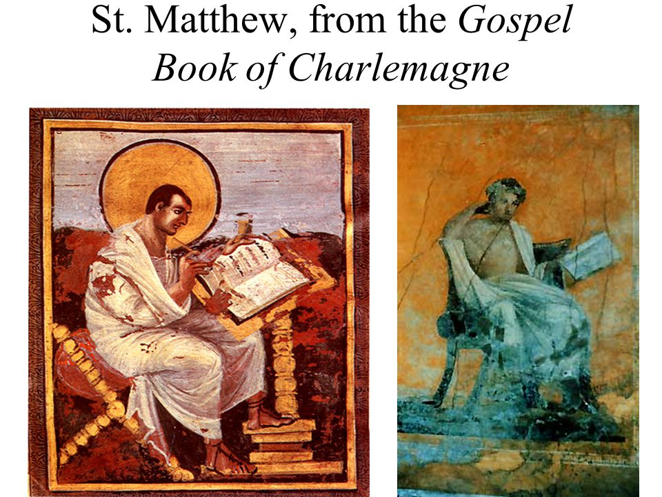 St. Matthew, from the Gospel Book of Charlemagne