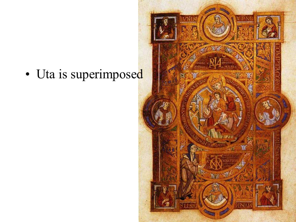 Uta is superimposed