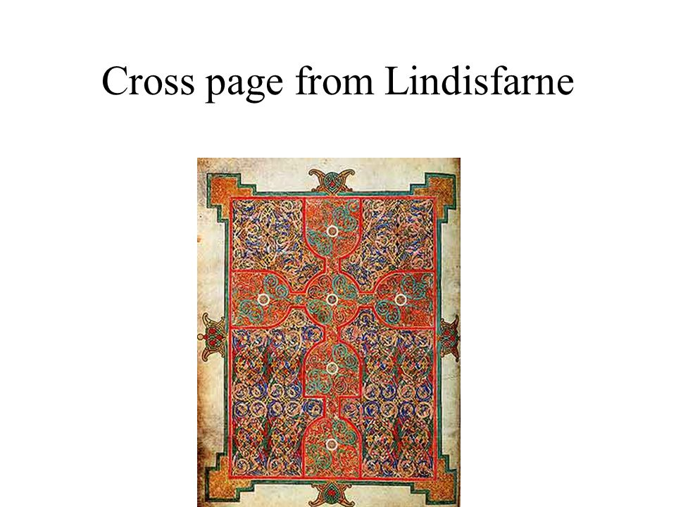 Cross page from Lindisfarne
